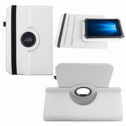NAUC Tablet Hülle kompatibel für MPman MPQC730 Tasche Schutzhülle Case Schutz Cover Bag Etui, Farben:Weiss