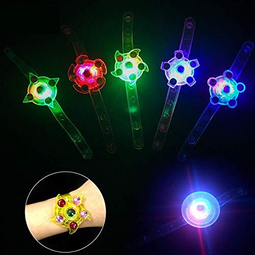 KATELUO 15 Pack Mitbringsel Kindergeburtstag blinkend Armreif blinkleucht Armbänder für Kinder Geburtstag Party Disco Hallowen Weihnachten