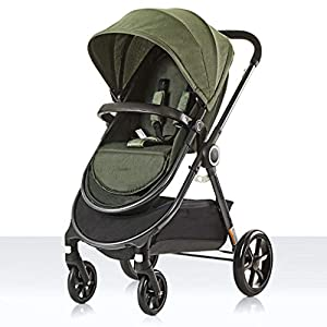 BHDesign Pushchairs Two-Way Stroller High Landscape Lightweight Portable Folding Shockproof Can Sit Reclining Children Trolley Travel 0~3 Years Old   2