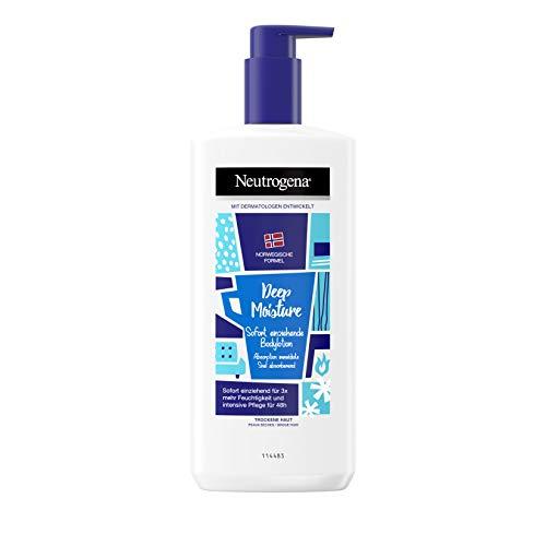 Neutrogena Deep Moisture Sofort einziehende Bodylotion für trockene Haut (3x 400ml)
