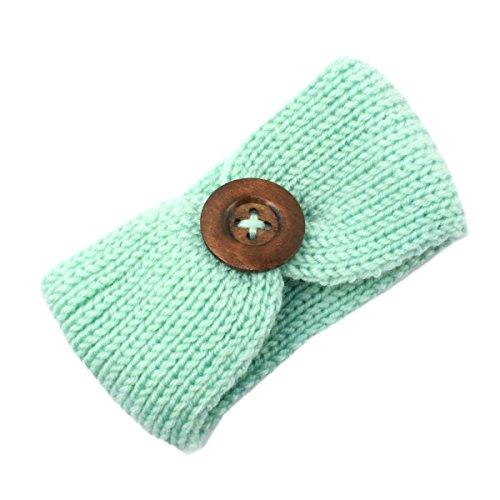 Topfly - Diadema de Lana para bebé Verde Verde