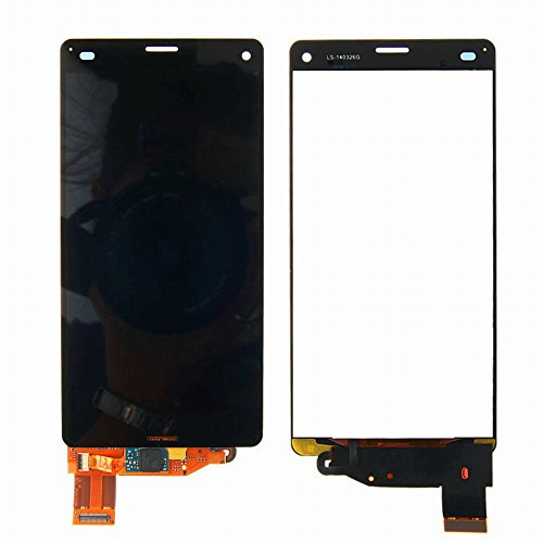 MovTEK Sony Xperia Z3 Mini Compact D5803 D5833 LCD Display Schermo Vetro Digitizer Touch Screen Assemblato di Ricambio e Gratis Kit Utensili (Nero)