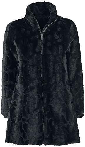 Forplay Fake fur Coat Frauen Kurzmantel schwarz S 100% Polyester Basics