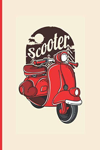 Scooter: Blank Notebook, 100 Pages College Ruled Line Paper, 6