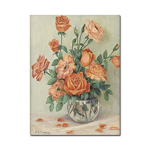 Vintage Schlafzimmer Wand Bild Wandmalerei Stillleben Blumendekoration Wohnzimmer Poster und Leinwand Wandkunst drucken