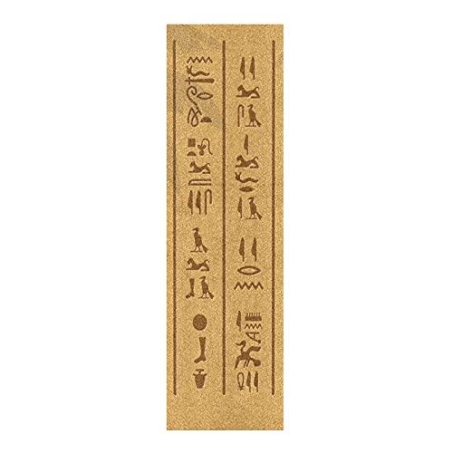 Arte Antiguo Egipto Palabra Papel de Lija para monopatín Antideslizante Skateboard Grip Tape Hojia Cinta de Agarre Lijas 84x23cm para Longboard Scooter