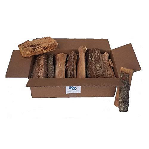 Rock Wood Cooking Wood Logs – USDA Certified Kiln Dried (Pecan, 25-30 lbs)
