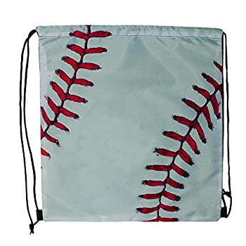 Sports Drawstring Backpack Baseball for your gym class and sports teams - Set of 6