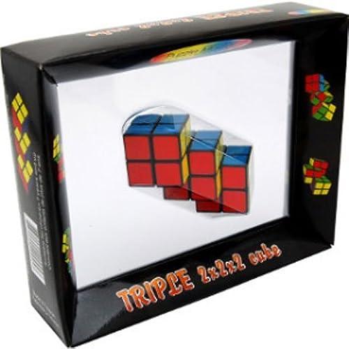tienda de descuento Triple 2x2x2 Cube Brain Teaser Teaser Teaser Puzzle Like Rubiks Cube by Puzzlemaster  Mercancía de alta calidad y servicio conveniente y honesto.
