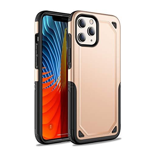 GUODONG Carcasa de telefono for iPhone 12/12 Pro a Prueba de Golpes Carcasas Protectoras de Armadura Funda Trasera para Smartphone (Color : Gold)