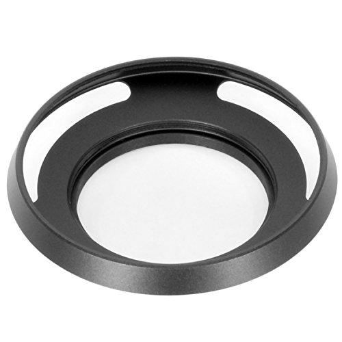 広角レンズ用 薄型 メタルレンズフード ネジ込み式 ブラック 40.5mmフィルター径装着用