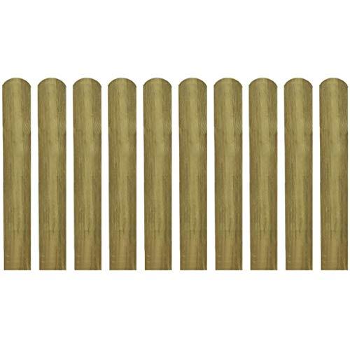 Festnight 30 x Zaunlatte Zaunbrett aus impr?gniertes Kiefernholz | Holz Latte für Garten Patio Terrasse | H?he 60cm / 100cm / 140cm
