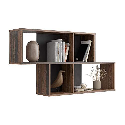 FMD Furniture - Mensola da parete in truciolato, 100 x 53 x 19,5 cm