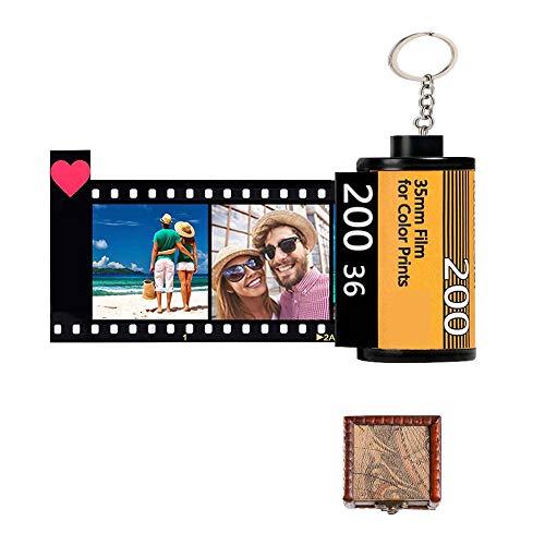 Instalación Llaveros personalizados Imagen fotográfica personalizada Cámara vintage Rollo de película Llaveros Carrete de fotos Álbum Llaveros, Regalos personalizados para cumpleaños