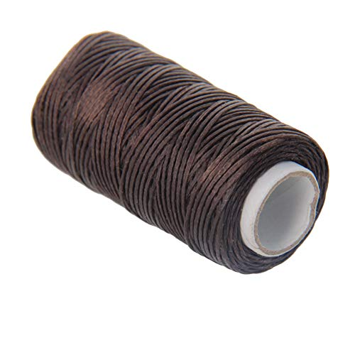 Utoolmart Crafts - Hilo de coser de cuero (1 mm, 50 m, 1 unidad), color marrón