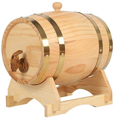 FXPCQC Madera Vino Barril Dispensador, Barril De Vino Rojo Vino, Dispensador De Vino para Guardar Whisky, Bourbon, Tequila, Traje para Casa, Bar