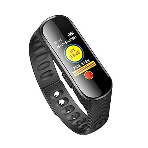 SLKON   Montre Micro Espion enregistreur Vocal 20 Heures d'autonomie en détection de Son ou en continu 96 Heures de mémoire