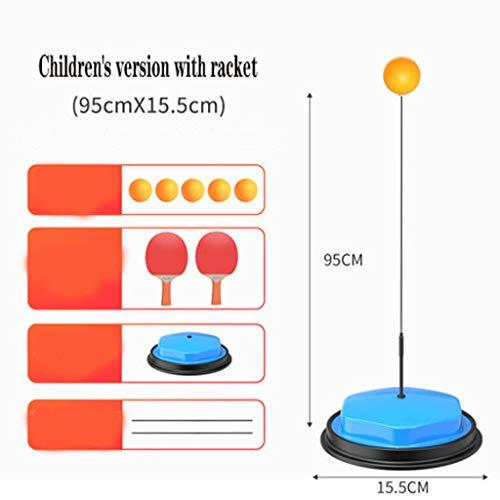 LYXCM Dispositivo de Entrenamiento de Tenis de Mesa, Soporte de Alta Resistencia Rodflexible Shaft Ventosa Ventosa sólido y Pesado Baseportable para el Ejercicio de los niños,Children's Money 2