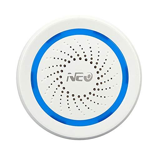 Sonline NEO Z-Wave Plus Sensor Sirena USB Sensor de Alarma Sirena de Alarma InaláMbrica AutomatizacióN del Hogar Alimentado por BateríA EU 868.4MHz