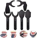 RZiioo Dental Photo Contrast Black Background Board, Specchio Fotografico intraorale a Contrasto Dentale ortodontico autoclavabile per scattare Foto orali (6 Pezzi)