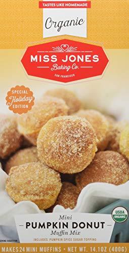 Miss Jones Baking Organic Muffin Mix Mini Pumpkin Donut, 14.1 Oz, (Pack Of 6)