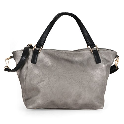 Handtasche RIVA dunkelgrau - (RIVA 1)