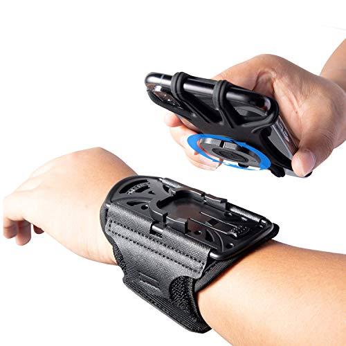 HLOMOM Running Armband abnehmbare Handytasche Wristband 360° drehbar, Universal Handy Halterung, Kompatibel mit alle 4-6.5 Zoll Smartphones (Black)