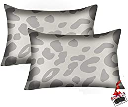 Nirwuso Satin Pillowcase for Hair and Skin,Silky Gray Leopard Pillow Cases Set of 2.Wrinkle,Fade Resistant, Satin Pillow Cases Cover for Women with Envelope Closure(Standard Size20''x26'')