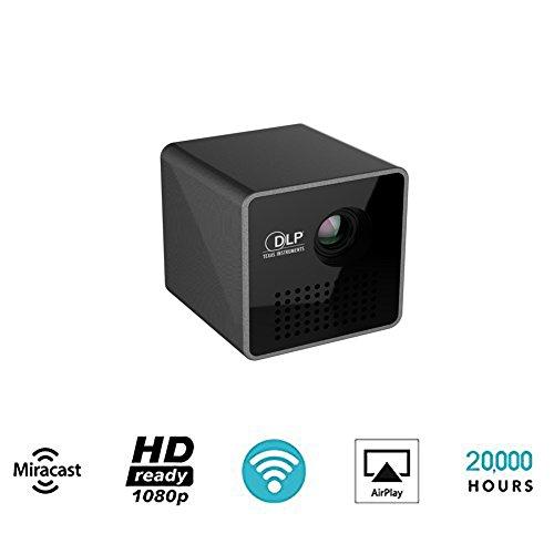Proiettore,mini proiettore,Portatile Smart TV-Box,Wi-Fi Proiettore LED DLP wireless Smart Video Beam Uso domestico per l'insegnamento da ufficio