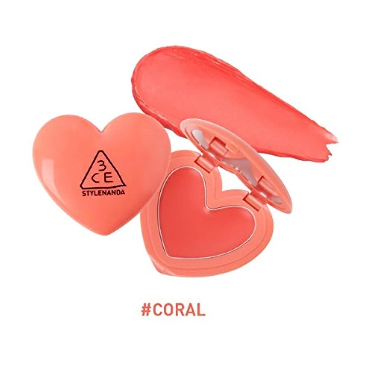 前方へ尊厳腹部3CE ハート ポットリップ / HEART POT LIP (1.4g) (CORAL) [並行輸入品]
