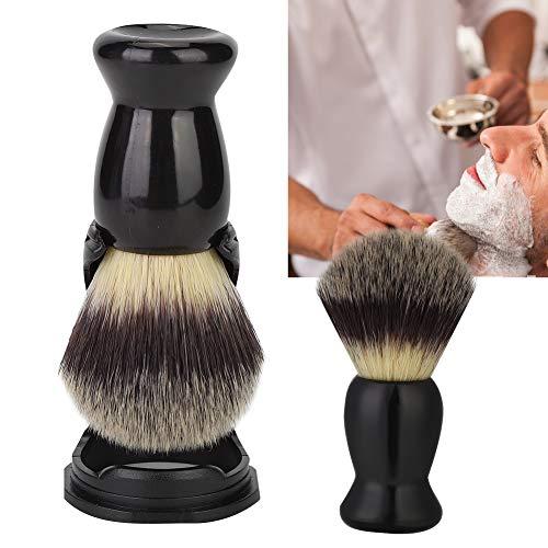 Rasierpinselhalter, Professionelles schwarzes Acryl Rasierwerkzeug mit kleinem Bartpinsel zum einfachen Tragen und Aufbewahren, schwarzer Bartbürstenhalter und Bartbürstenset(Bartbürste + Halterung)
