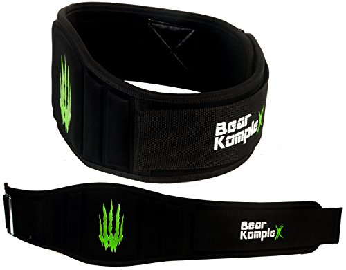 """Bear KompleX 6"""" Strength Weightlifting Belt for at-Home Workouts, Durable, Easily Adjustable, Low Profile with Super Firm Back for Support During Powerlifting, Cross Training, Squats, Weights"""