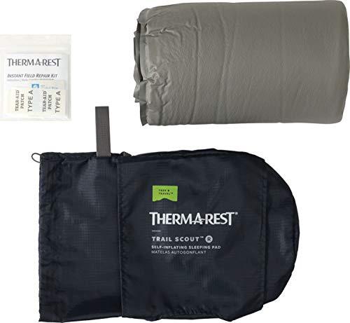 THERMAREST(サーマレスト)アウトドアマットレストレイルスカウトR値3.1グレーレギュラー【日本正規品】30101