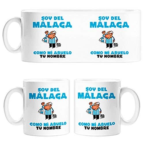 Diver Tazas Taza Soy del Málaga como mi Abuelo Personalizable con Nombre - Cerámica