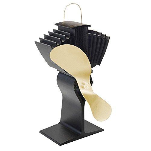 Caframo Ecofan 812 Airmax - Ventilador de estufa con aspas doradas, color negro