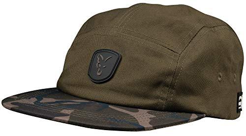 Fox Khaki/Camo Volley Cap - Angelcap für Karpfenangler, Cappy für Angler, Anglercap, Angelmütze, Mütze zum Karpfenfischen