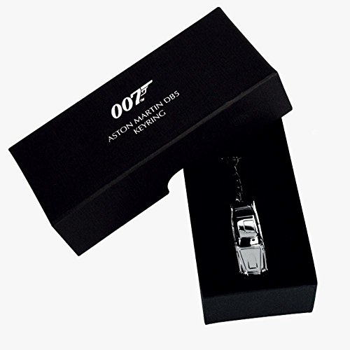 RDP Oficial James Bond 007 Goldfinger Skyfall Aston Martin DB5 Llavero de Metal Plateado