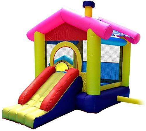 Inflable Castillo inflable Castillo Inflable Castillo Inicio Trampoline Niños Niños Niños Grande Castillo Bouncy para los niños para el patio de patio (Color: Amarillo, Tamaño: 320 veces; 280 cm) WKY