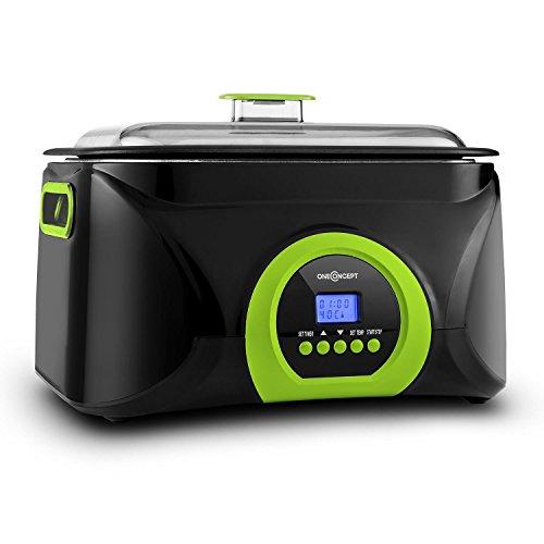 oneConcept Sanssouci pentola Sous Vide Sistema di Cottura sottovuoto cuocivivande (5 Litri, 300 Watt) - Verde