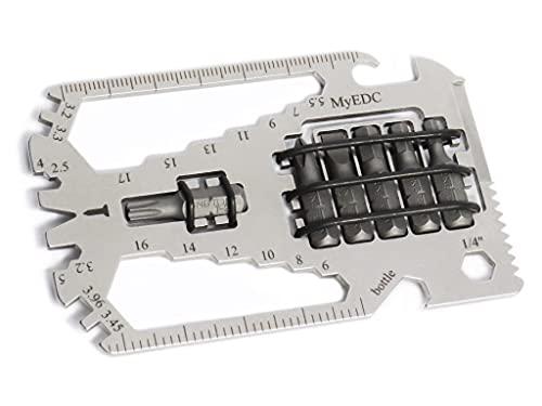 MyEDC 29 en 1 con 6 bits - Multiherramienta de bolsillo - Herramienta para bicicleta - Llaves, llave de radios, abrebotellas, abrelatas, sierra, cuchillo, clavo, destornillador Allen, puntas Torx
