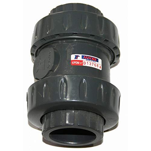 Astore -ø 50 mm clapet PVC anti-retour à boule.-IN-SVFO311050