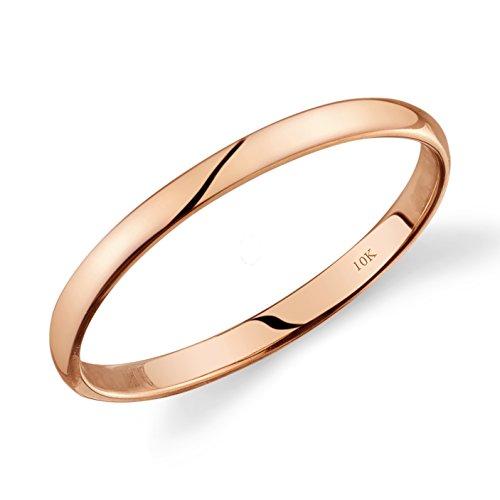 10k Rose Gold Light Comfort Fit 2mm Wedding Band Size 6