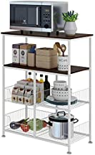 Home Living Museum/Kitchen Shelf Floor 4 Multi Layer Pot Rack Microwave Storage Rack Storage Rack Household Shelves (Color...
