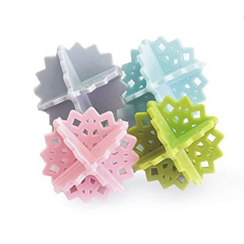 雪の華洗濯ボール絡み防止PVC材料耐久性が強い上に軽く高品質丈夫しっかり固定4個セット3〜5労働日以内配達