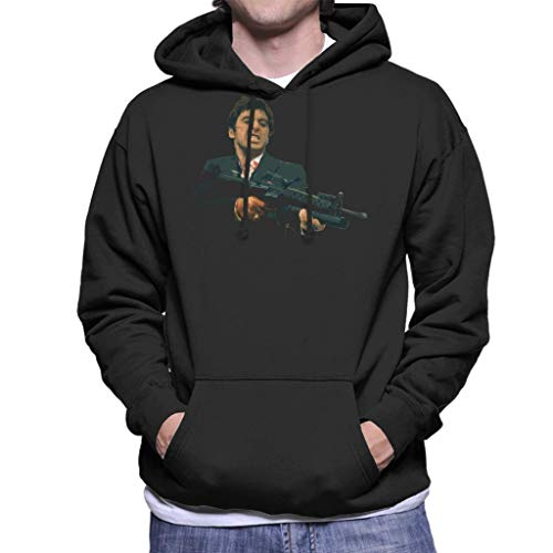 Cloud City 7 Tony Montana Say Hello to My Little Friend Scarface Men's Hooded Sweatshirt