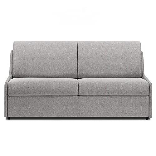 Canapé Convertible rapido COMPACTO Matelas 140cm Comfort BULTEX® Tissu Neo Gris Silex