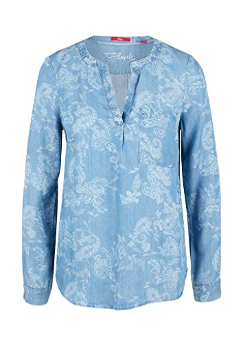 s.Oliver RED Label Damen Tunika mit Ornament-Muster Light Blue Paisley 44