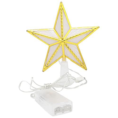 Decoración para árbol de Navidad con luces LED (no incluye pilas)