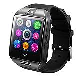 WOSOSYEYO Smart Watch Men Q18 con Pantalla táctil Cámara Grande con Soporte para batería TF Tarjeta SIM para teléfono Android