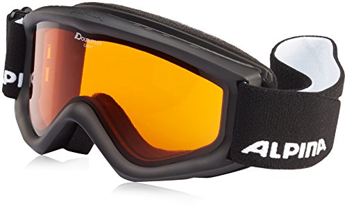 ALPINA Kinder Carat D Skibrille, Black, One Size
